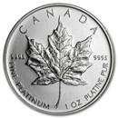 Canada 1 oz Platinum Maple Leaf (Random Year, Abrasions)