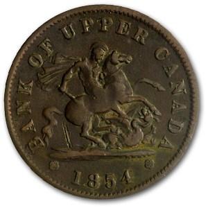 Canada 1854 1 Penny VG