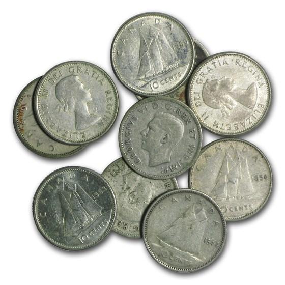 Canada 80% Silver Coins - $1 Face Value Avg Circ