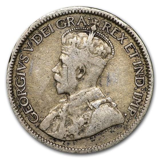 Canada Silver 10 Cents Avg Circ (Random Years)