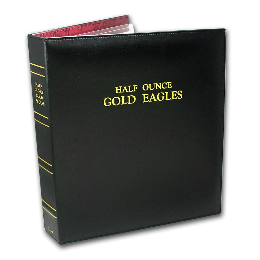 CAPS Album for 1/2 oz Gold American Eagle Date Set (1986-Current)