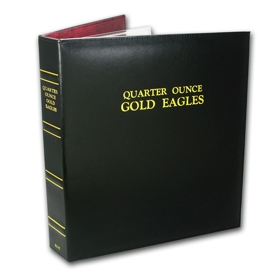 CAPS Album for 1/4 oz Gold American Eagle Date Set (1986-Current)