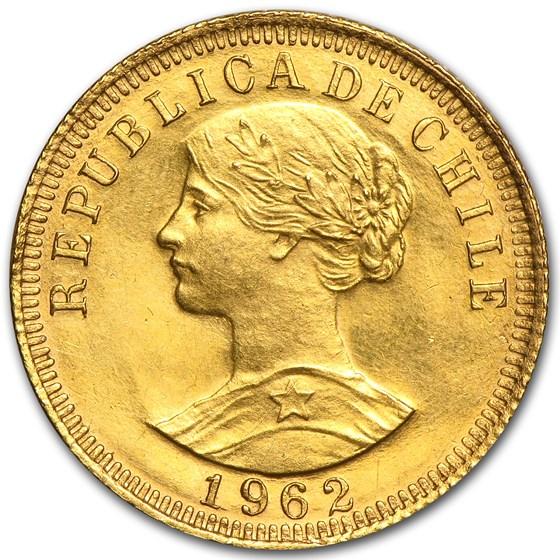 Chile Gold 50 Pesos (Abrasions, AGW .2943, Random)