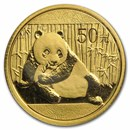 China 1/10 oz Gold Panda BU (Random Year, Not Sealed)