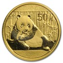 China 1/10 oz Gold Panda BU (Random Year, Sealed)
