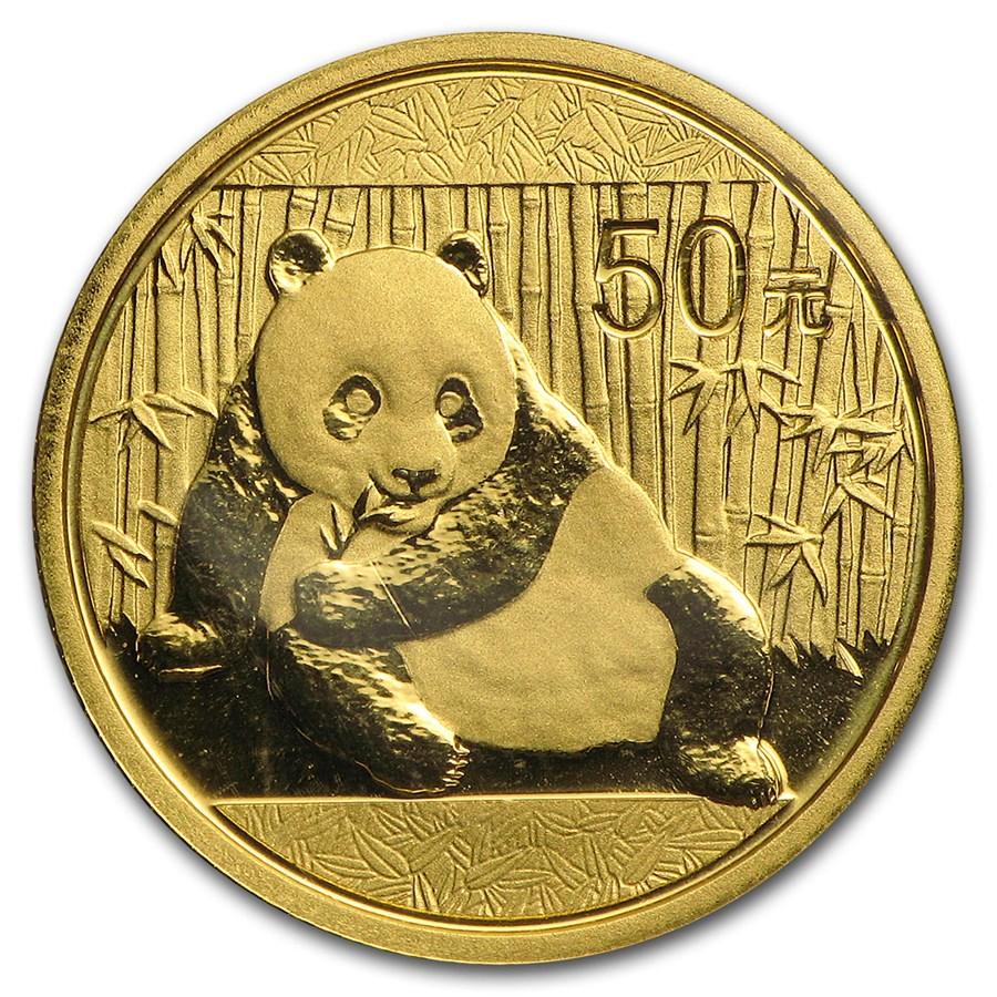 China 1/10 oz Gold Panda BU (Random Year, Sealed)