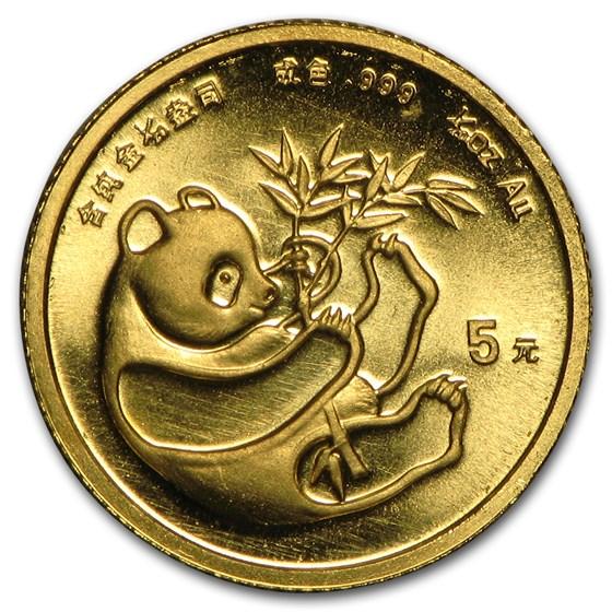 China 1/20 oz Gold Panda BU (Random Year, Not Sealed)
