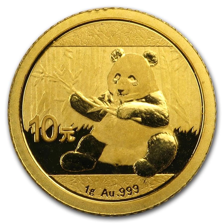 China 1 gram Gold Panda (Random Year, Not Sealed)