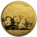 China 1 Kilo Gold Panda Proof (w/Box & COA) Random Year