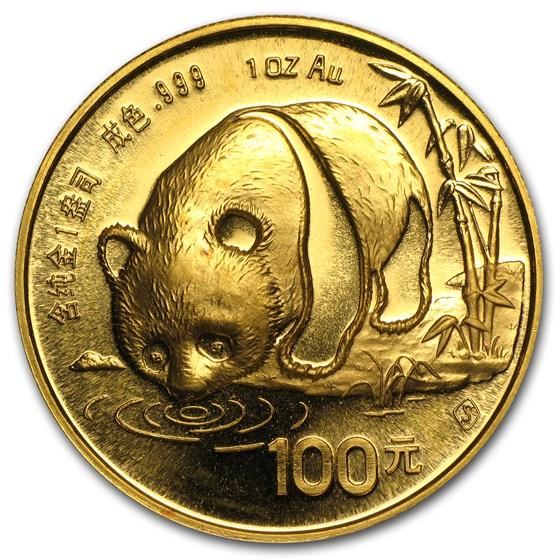 China 1 oz Gold Panda BU (Random Year, Not Sealed)