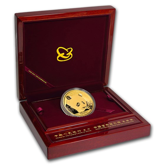 China 100 gram Gold Panda Proof (Random Year, w/Box & COA)