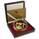China 12 oz Gold Panda Proof (Random Year, w/Box & COA)