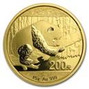 China 15 gram Gold Panda BU (Random Year, Not Sealed)