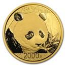 China 150 gram Gold Panda Proof (Random Year, w/Box & COA)