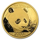 China 150 gram Gold Panda Proof (w/Box & COA) Random Year
