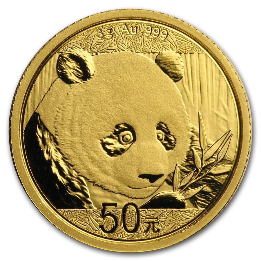 China 3 gram Gold Panda BU (Abrasions)