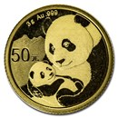 China 3 gram Gold Panda BU (Random Year, Sealed)