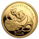 China 5 oz Gold Panda Proof (Random Year, w/Box & COA)