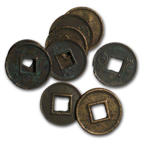 China Xin Dynasty AE Cash Wang Mang (9-23 AD) Avg Circ