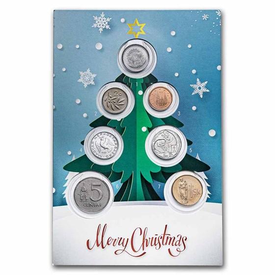 Christmas Greetings 7-Coin Set BU