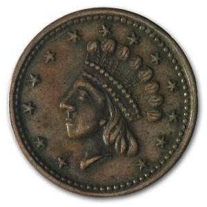 Civil War Token 1864 Patriotic 51/342 VF