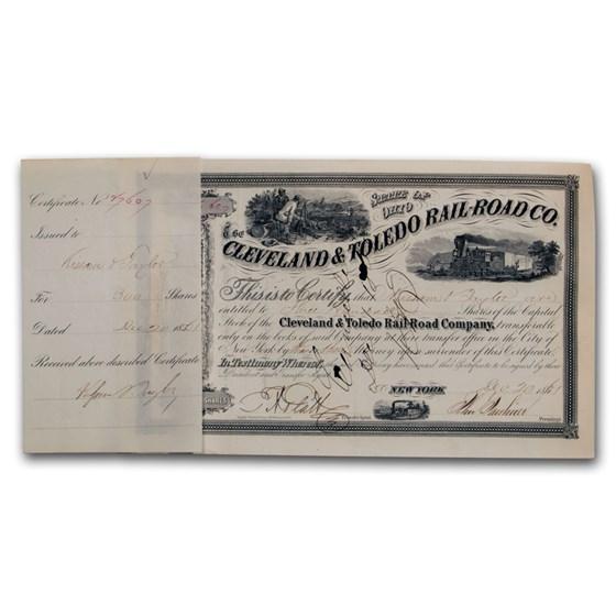 Cleveland & Toledo Railroad Company Stock Certificate