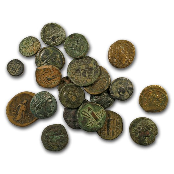 Coins of the Ancient Greek City States AE Units (450-100 BC) VF
