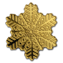 Cook Islands 1/2 gram Gold $5 Golden Snowflake