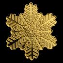 Cook Islands 1/2 gram Gold $5 Golden Snowflake