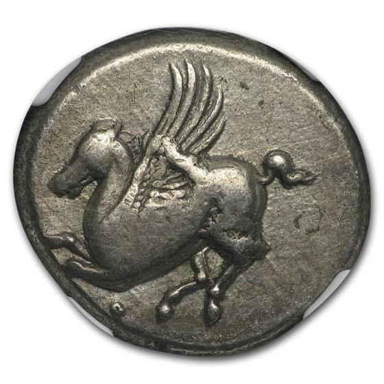Corinthia AR Silver Stater Pegasus (4th Century BC) Ch VF NGC