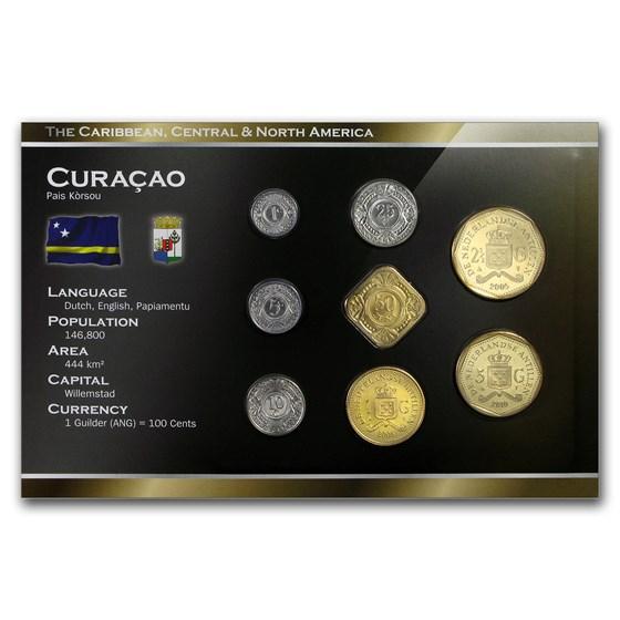 Curacao 1 Cent - 5 Gulden 8-Coin Set BU