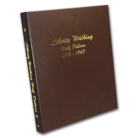 Dansco Album #7161 - Liberty Walking Half Dollars 1941-1947