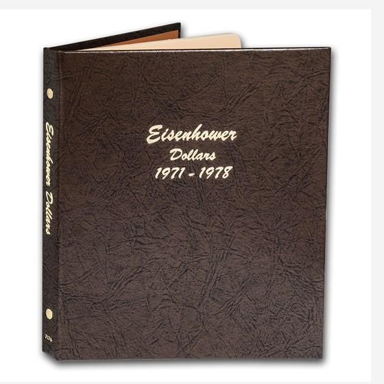 Dansco Album #7176 - Eisenhower Dollars 1971-1978