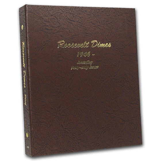 Dansco Album #8125 - Roosevelt Dimes 1946-Date (w/Proofs)