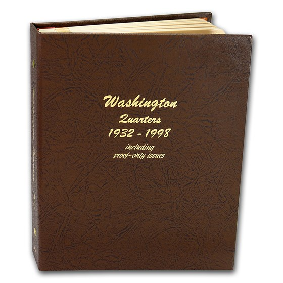 Dansco Album #8140 - Washington Quarters 1932-1998 (w/Proofs)