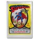 DC Action Comics #1 June 1939 (Superman) - 35 Gram Silver Poster