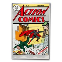 DC Action Comics #7 December 1938 - 35 Gram Silver Poster