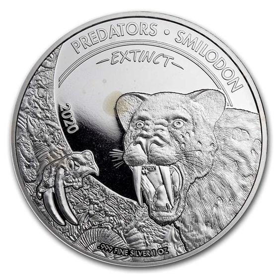 Dem. Republic of Congo 1 oz Silver Predators (Random, Abrasions)