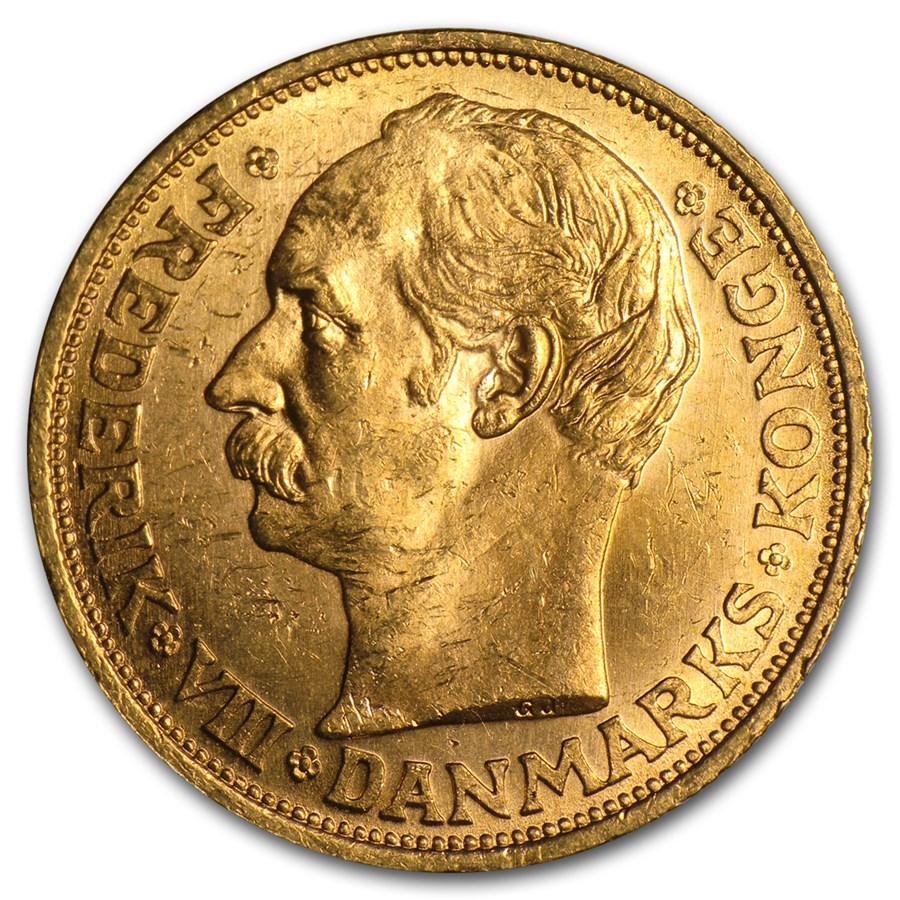 Denmark Gold 20 Kroner Frederik VIII AU (1908-1912)
