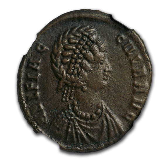 Eastern Roman Empire AE2 A. Flaccilla (379-388 AD) AU* NGC