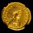 Eastern Roman Empire AV Semissis Theodosius II 402-450 AD AU NGC