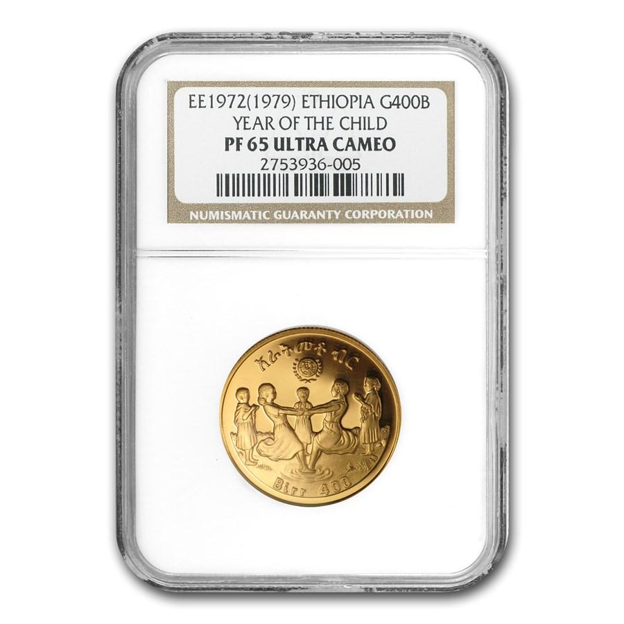 EE1972 Ethiopia Gold 400 Birr PF-65 NGC