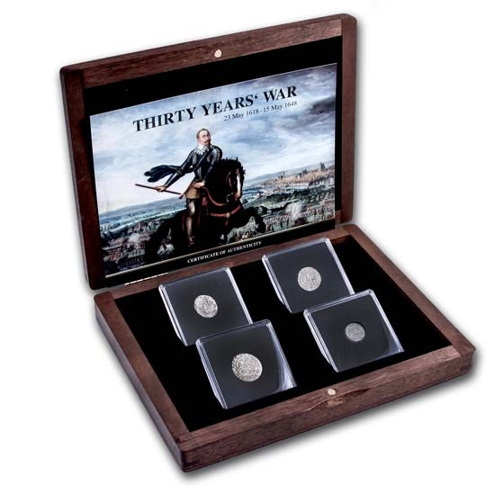 Europe Silver 4-Coin The Thirty Years War Presentation Set