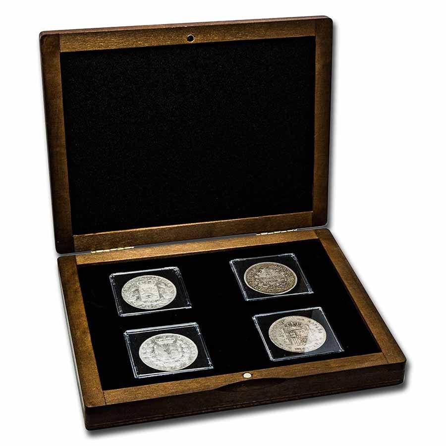 Europe's Latin Monetary Union Silver 4-Coin Presentation Set