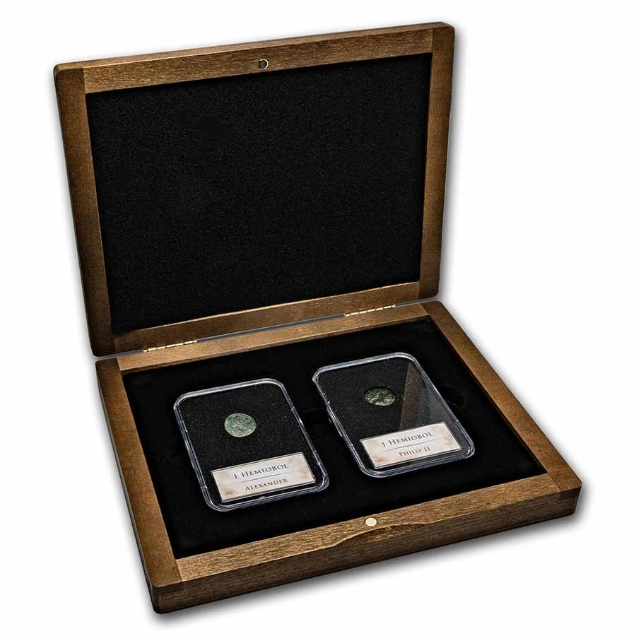Father and Son - Philip and Alexander 2-Coin Presentation Set