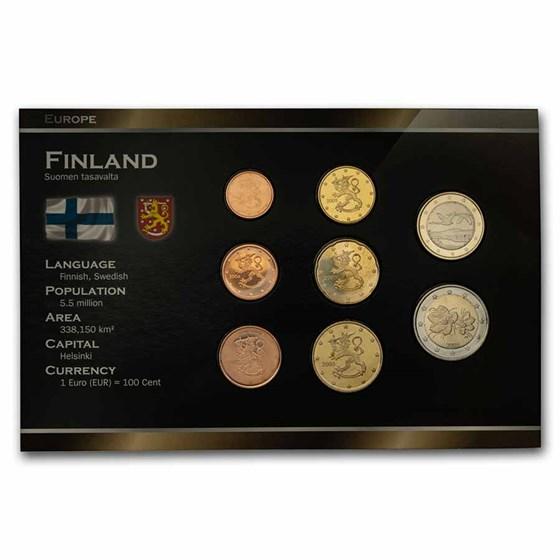 Finland 1 Cent-2 Euro 8-Coin Euro Set BU