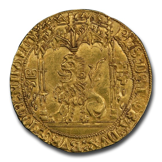 Flanders AV Lion d'Or Philippe le Bon (1419-1467) MS-62 PCGS