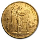 France Gold 50 Francs Angel (1878-1904) Avg Circ