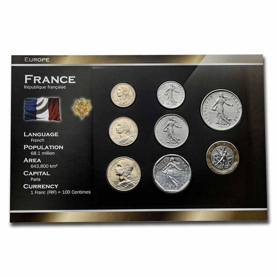 France Pre-Euro 8-Coin Set BU