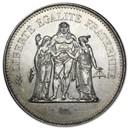 France Silver 50 Francs Hercules (1974-1979) AU-BU